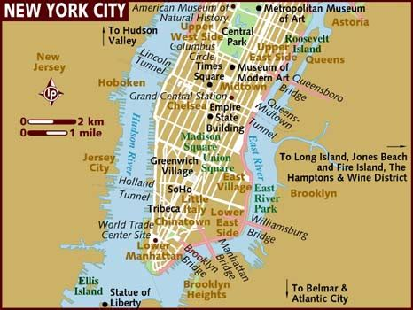 map of new york usa map of new york city