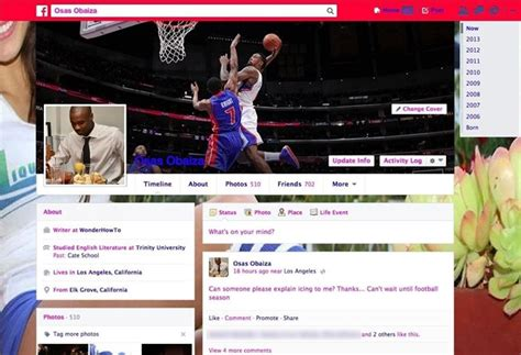 change themes facebook profile how to change the text color default blue facebook theme