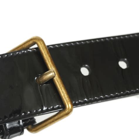 ysl yves laurent patent leather bow belt black 75 30