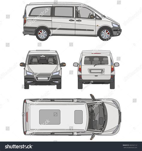 vehicle vector templates vector service car template white blank stock vector