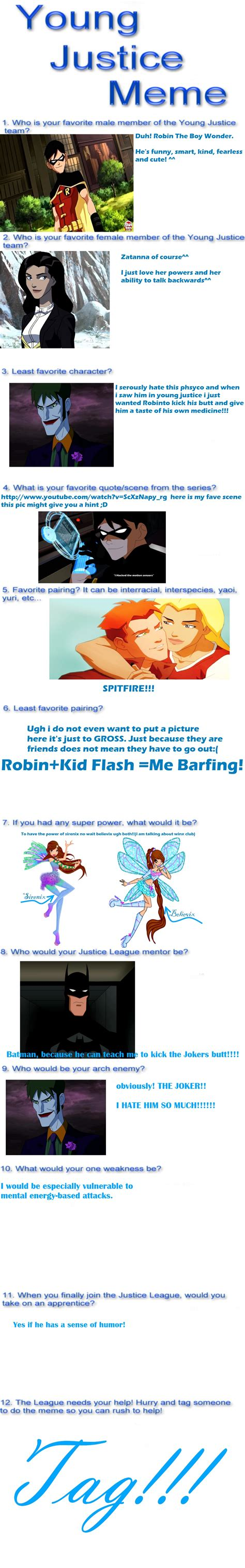 Young Justice Memes - young justice meme by glimmeringangel26 on deviantart