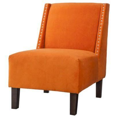 Orange Slipper Chair by Hayden Armless Slipper Chair Orange Velvet With Nailheads