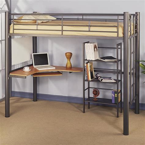 metal loft bed with desk bedroom amazing image of furniture for teen bedroom