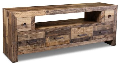 rustic style fulton tv stand  contemporary