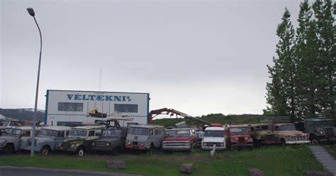 toyota car yard junk car junk yard iceland 4k stock video 429 949
