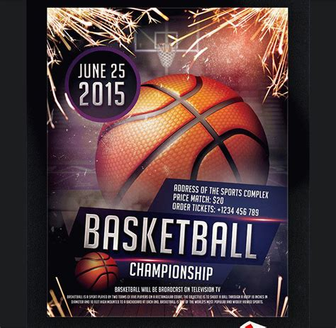 36 Basketball Flyer Psd Templates Free Premium Designyep Free Basketball Photoshop Templates