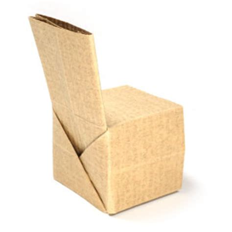 How To Make A Paper Chair - how to make a simple regular origami chair page 1
