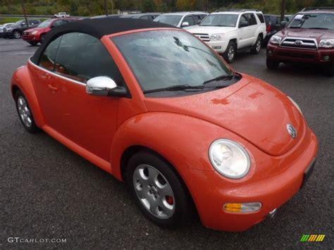 orange volkswagen beetle 2003 sundown orange volkswagen beetle gls convertible