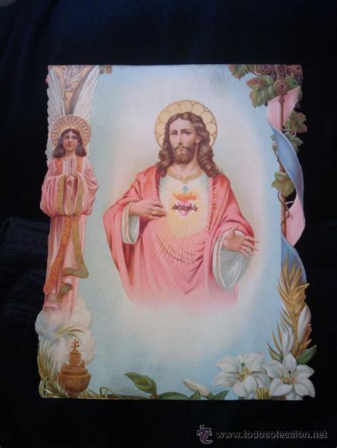 imagenes religiosas todocoleccion dos imagenes religiosas 1925 sagrado corazon de comprar