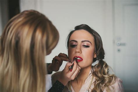 Vintage Wedding Hair And Makeup Glasgow by A Humanist Ceremony For An School Inspired