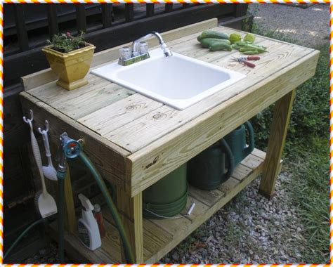 outdoor potting bench with sink ideas accent your garden with splendid potting bench with sink primebiosolutions com
