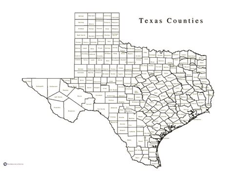 texas map with county lines cip products