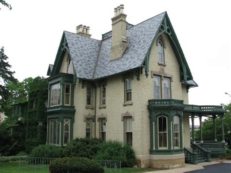 gothic victorian homes lake peterson house rockford illinois u s national
