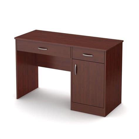 axess 1 drawer computer desk with south shore axess small computer desk in royal cherry