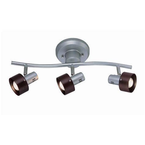 ls plus track lighting illumine designer collection 3 light 6 25 in silver track