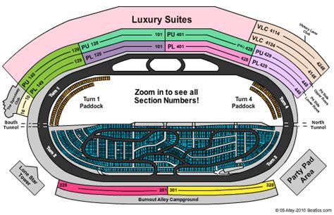 texas motor speedway seating map texas motor speedway seating map
