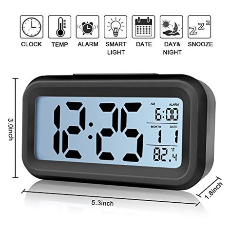 low light alarm clock alarm clock ieka digital easy to set and watch with large