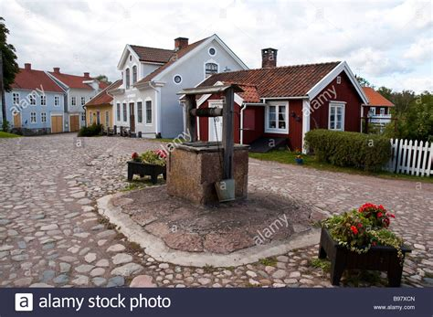 quaint town stock photos quaint town stock images alamy quaint swedish village with well and cobblestone streets