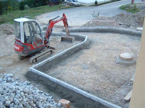 Borde Setzen Beton by Hausbau