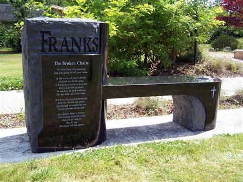 headstone bench monument bench monubench portfolio pacific coast memorials