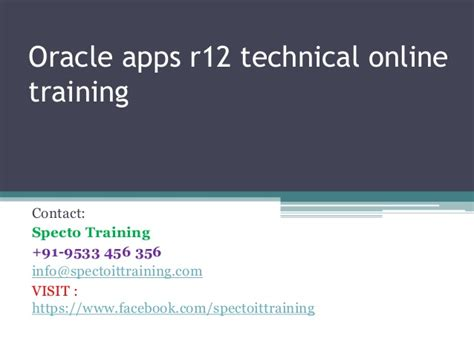 online tutorial r oracle apps r12 technical online training