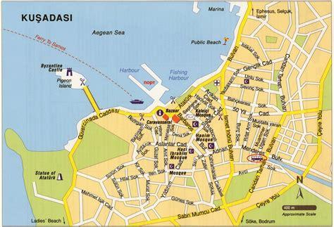 kusadasi map large kusadasi maps for free and print high