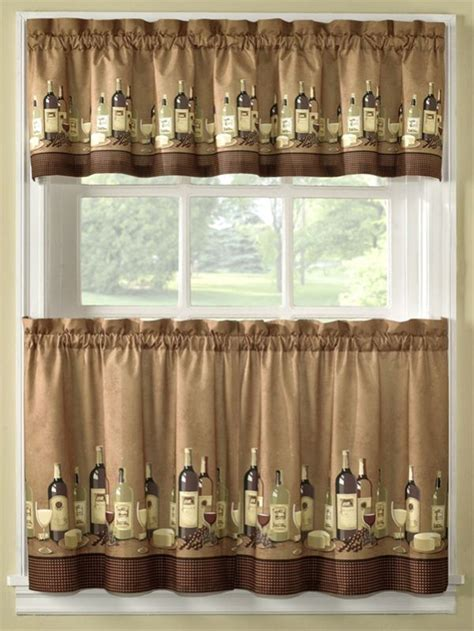 kitchen cafe curtains ideas diy wine accent cafe curtains decoist