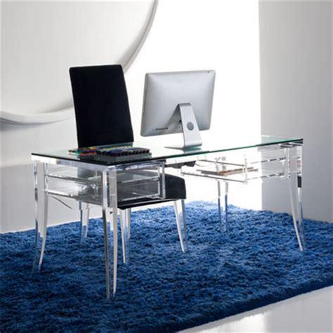 Plexiglass Computer Desk Modern Acrylic Desk Mecox Gardens