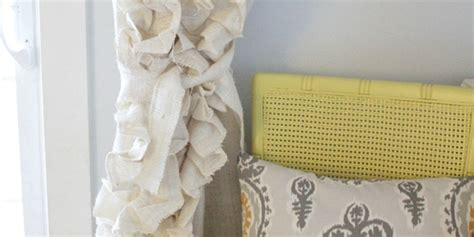 how to make burlap curtains without sewing remodelaholic how to sew ruffled burlap curtains