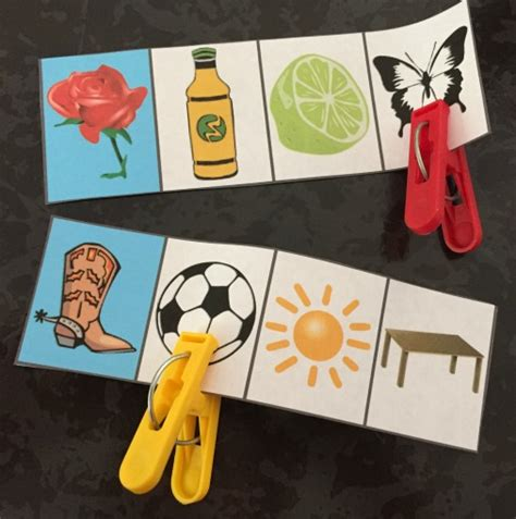 say pattern in spanish spanish rhyming words pattern and clothespin cards