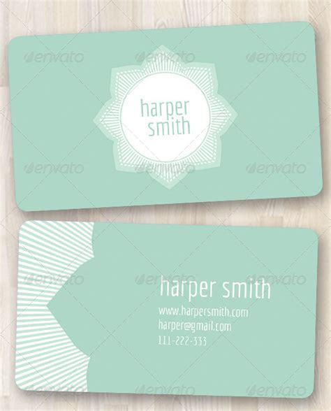 feminine business card template simple feminine business card by firstaidkit graphicriver