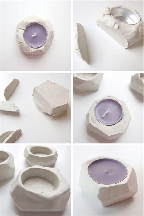 diy tea light holders diy faceted clay tealight holders gathering beauty