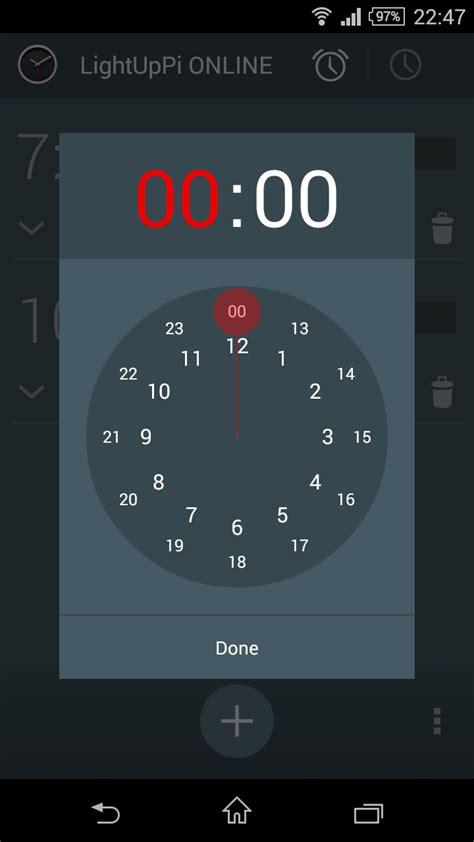 light alarm clock app carlosperate lightuppi alarm pi alarm clock with