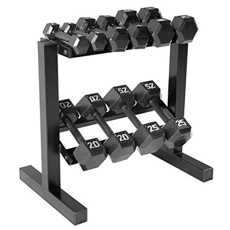 Dumbbell Set With Rack 5 100 by Cap Barbell Hex Dumbbell Set With Rack 150 Lb Black