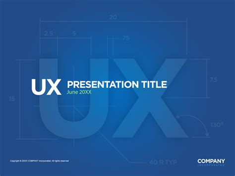 fully editable ux powerpoint presentation cover page in