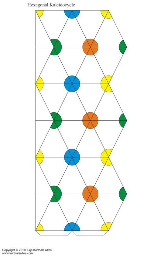 Hexaflexagon Origami - net hexagonal kaleidocycle 도안 origami diy