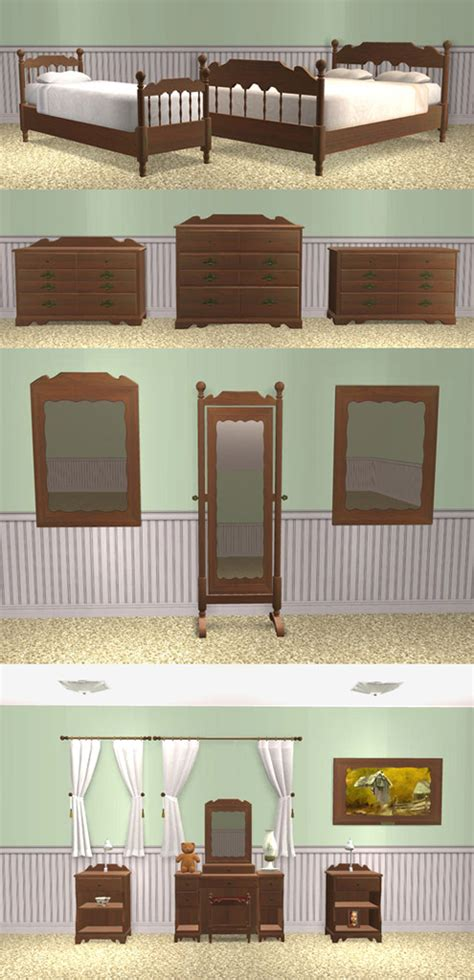Bedroom Objects Mod The Sims Ethan Allen Colonial Bedroom Set