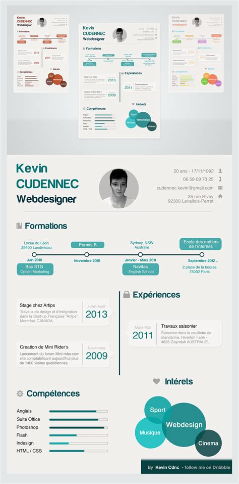 Creative Resume Design Templates by Creative Infographic Style Free Resume Psd For Designers