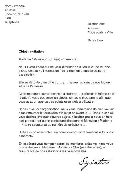 Lettre De Remerciement Quand On Quitte Un Travail lettre d invitation r 233 union mod 232 le de lettre