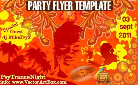 party flyer template free vector in adobe illustrator ai