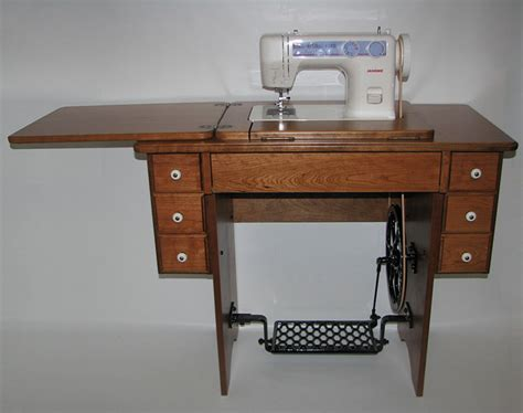 Sewing Machine In Cabinet by Janome 712t Cabinets High Quality Amish Treadle Sewing