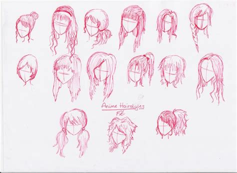medium length hairstyle sketches anime girl hairstyle hair is our crown