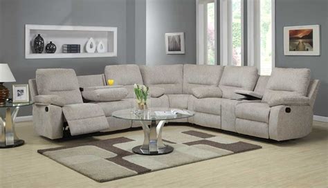 full reclining home theater sectional sofa set console homelegance marianna modular reclining sectional sofa set