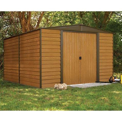 rowlinson woodvale metal garden shed   ft