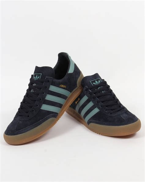 adidas jeans adidas jeans trainers navy blue sky suede originals sizes