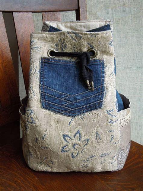 Gypsi Sling Bag boho backpack sling bag denim drawstring bag neutral
