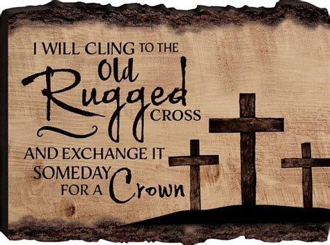 I Still Cling To The Rugged Cross Lyrics by Rugged Cross Barky Sign Lordsart