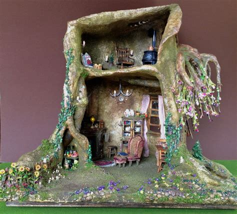 fairy dolls house 36 best images about fairy house tree trunk dollhouse on pinterest bonsai trees