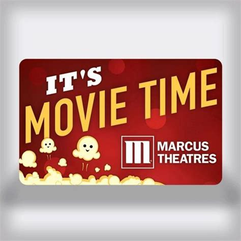 Movies Gift Card - marcus theatres entertainment movie gift card movie time edition