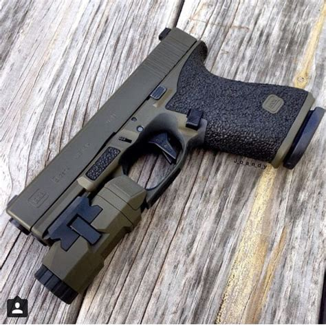 glock frame colors great color on this custom glock 19 glocked out cold